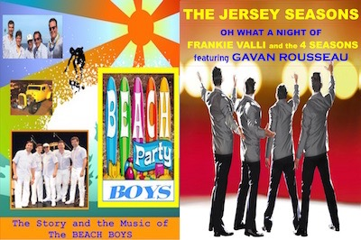 Beach Party Boys - A Tribute to the Beach Boys & The Jersey Season - A Tribute to Frankie Valli and the Four Seasons